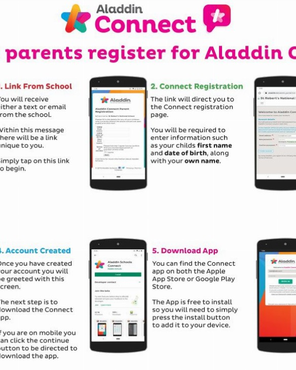 Parents Signup to Aladdin Connect